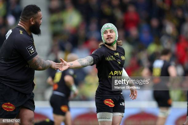 Gabriel Lacroix And Uini Atonio Of La Roce During The French Top 14 Match Between