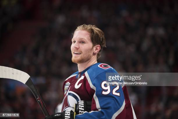 Gabriel Landeskog of Colorado Avalanche during the 2017 SAP NHL Global Series match between Ottawa Senators and Colorado Avalanche at Ericsson Globe...