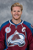 Gabriel Landeskog of the Colorado Avalanche poses for his official headshot for the 20152016 NHL season on September 17 2015 at the Pepsi Center in...