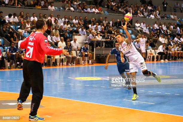 Gabriel Loesch of Aix during Lidl Star Ligue match between Fenix Toulouse and Pays D'aix Universite Club on September 13 2017 in Toulouse France