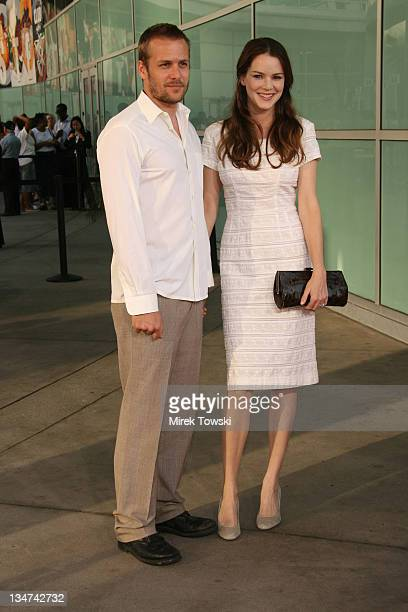 Gabriel Macht and Jacinda Barrett during 'The Lake House' Los Angeles Premiere Arrivals at Arclight Cinerama Dome in Hollywood California United...