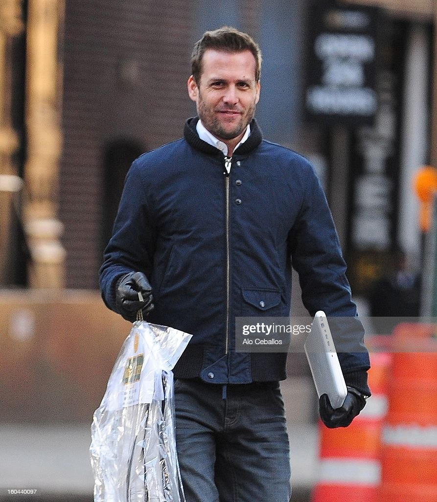 Gabriel Macht is seen in Tribeca on January 31, 2013 in New York City.