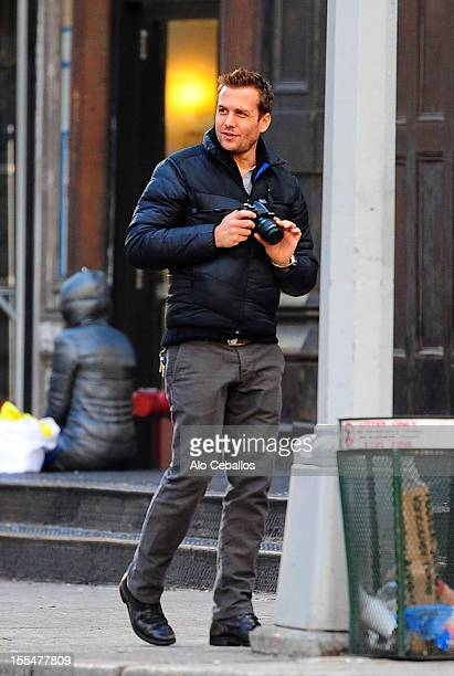 Gabriel Macht is seen in Tribeca on November 4 2012 in New York City