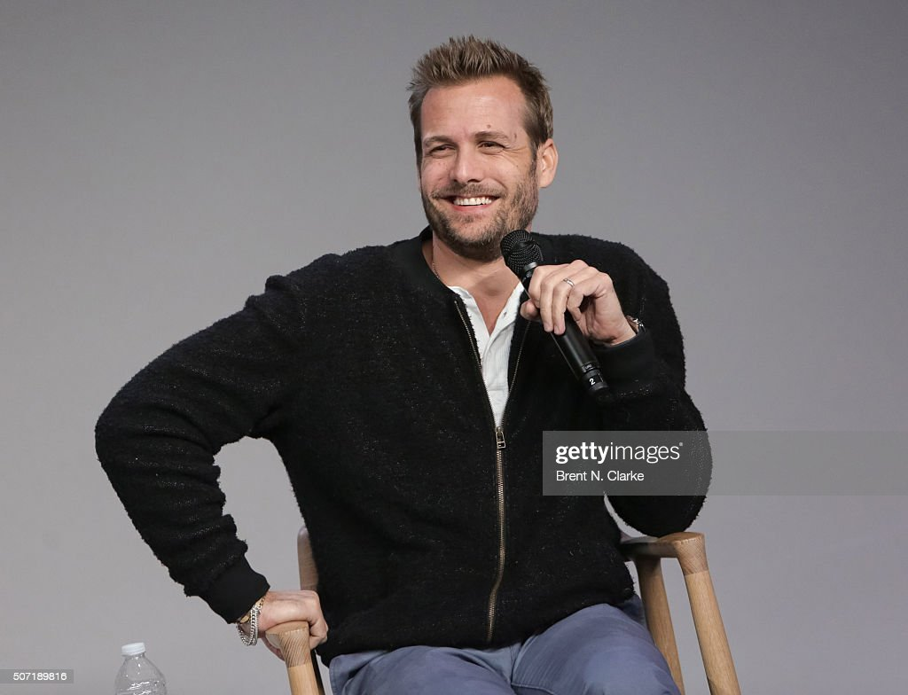 Gabriel Macht speaks on stage during Meet the Actor: Gabriel Macht, 'Suits' held at Apple Store Soho on January 27, 2016 in New York City.