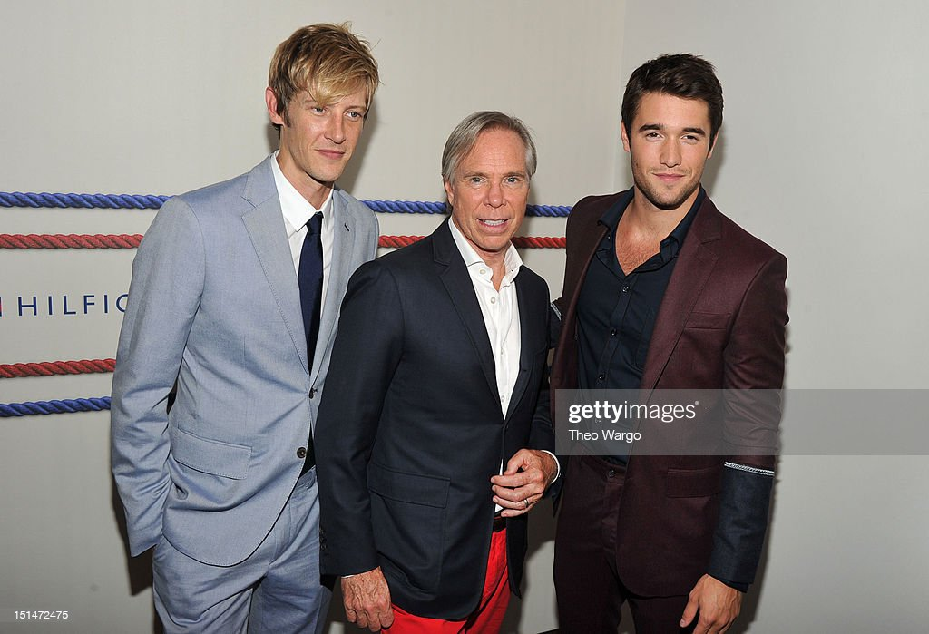 <a gi-track='captionPersonalityLinkClicked' href=/galleries/search?phrase=Gabriel+Mann&family=editorial&specificpeople=228956 ng-click='$event.stopPropagation()'>Gabriel Mann</a>, designer Tommy Hilfiger, and <a gi-track='captionPersonalityLinkClicked' href=/galleries/search?phrase=Joshua+Bowman+-+Actor&family=editorial&specificpeople=7721637 ng-click='$event.stopPropagation()'>Joshua Bowman</a> pose backstage at the Tommy Hilfiger Men's Spring 2013 fashion show during Mercedes-Benz Fashion Week at Maritime Hotel on September 7, 2012 in New York City.