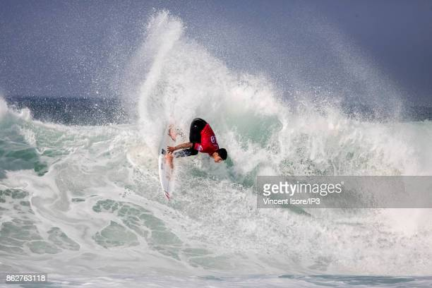 Gabriel Medina from Brazil performs during the Quicksilver Pro France surf competition on October 12 2017 in Hossegor France he French stage of the...