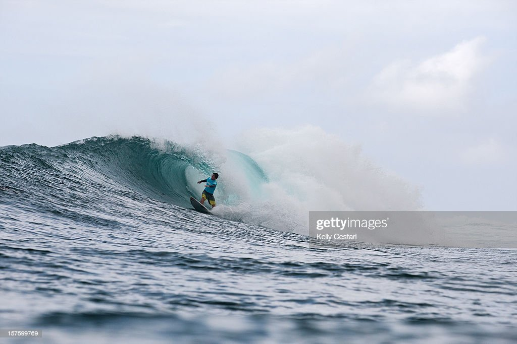 Gabriel Medina of Brasil surfs in the final of the Vans World Cup of Surfing on December 4, 2012 in North Shore, Hawaii. Medina placed runner-up.