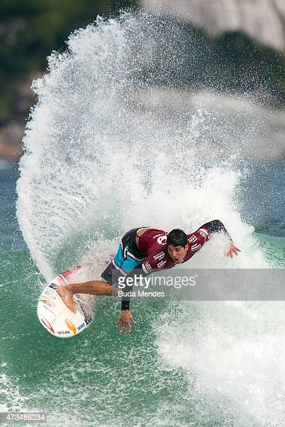 Gabriel Medina of Brazil surfs during his Round 3 heat at the Oi Rio Pro on May 15 2015 in Rio de Janeiro Brazil