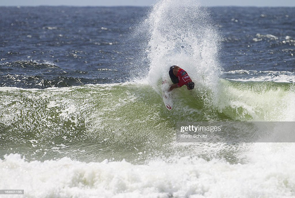 Gabriel Medina of Brazil surfs during round three of the Quiksilver Pro on March 11, 2013 in Gold Coast, Australia.