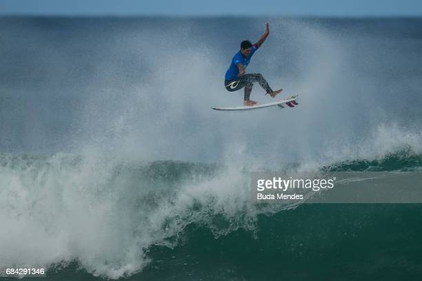 Gabriel Medina of Brazil surfs during the heats 2 Round 2 of the Oi Rio Pro 2017 at Itauna Beach on May 17 2017 in Saquarema Brazil