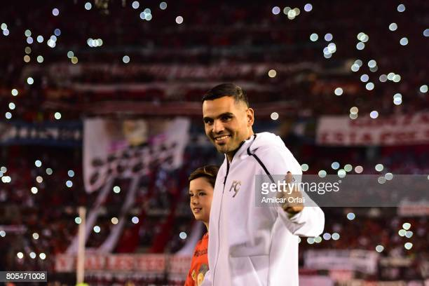 Gabriel Mercado gets in the field prior the Fernando Cavenaghi's farewell match at Monumental Stadium on July 01 2017 in Buenos Aires Argentina
