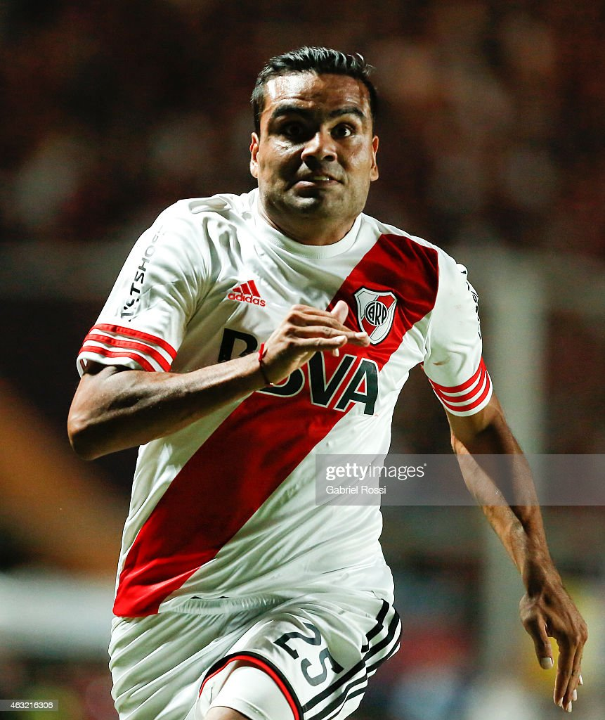 Gabriel Mercado of River Plate in action during a second leg match between San Lorenzo and River Plate as part of Recopa Sudamericana at Pedro Bidegain Stadium on February 11, 2015 in Buenos Aires, Argentina.