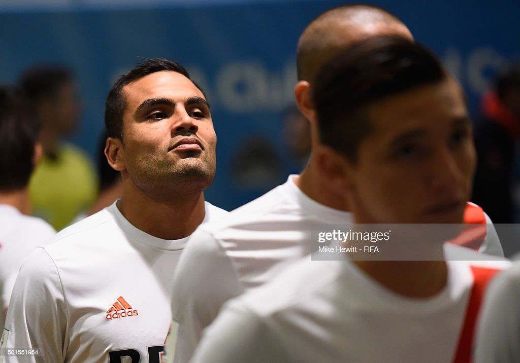 <a gi-track='captionPersonalityLinkClicked' href=/galleries/search?phrase=Gabriel+Mercado&family=editorial&specificpeople=4110696 ng-click='$event.stopPropagation()'>Gabriel Mercado</a> (25) of River Plate waits in the tunnel prior to the FIFA Club World Cup Japan 2015 Semi Final between Sanfrecce Hiroshima and River Plate at Osaka Nagai Stadium on December 16, 2015 in Osaka, Japan.