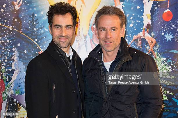 Gabriel Merz and Marco Girnth attend the 11th Roncalli Christmas Circus at Tempodrom on December 19 2014 in Berlin Germany