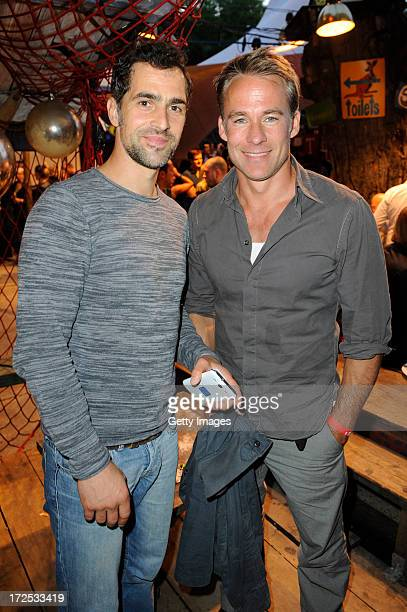 Gabriel Merz and Marco Girnth attends GStar presents Spring/Summer 2014 collection during Bread Butter on July 02 2013 in Berlin Germany