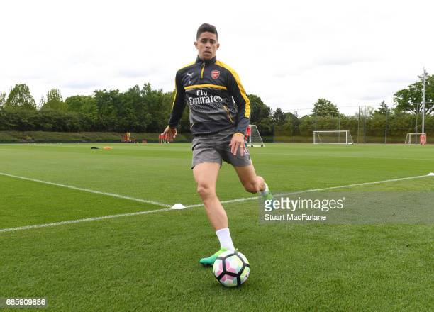 Gabriel of Arsenal during a training session at London Colney on May 20 2017 in St Albans England