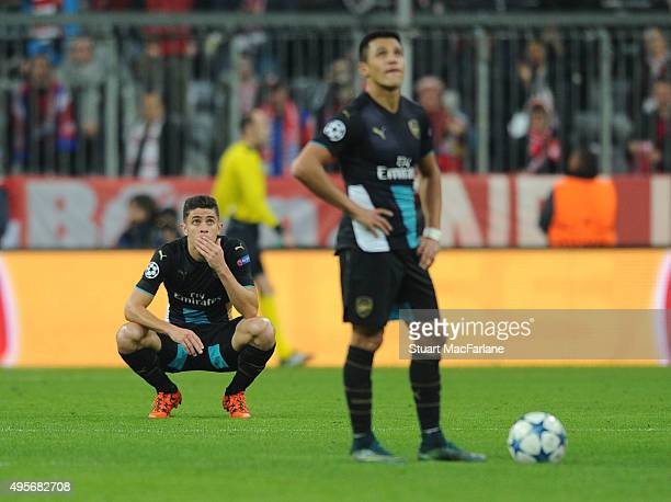 Gabriel of Arsenal during the UEFA Champions League Group Stage match between Bayern Muenchen and Arsenal at the Allianz Arena on November 4 2015 in...