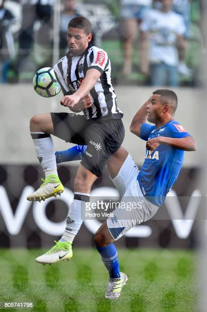 Gabriel of Atletico MG and Alisson of Cruzeiro battle for the ball during a match between Atletico MG and Cruzeiro as part of Brasileirao Series A...
