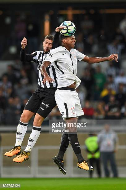 Gabriel of Atletico MG and Jo of Corinthians battle for the ball during a match between Atletico MG and Corinthians as part of Brasileirao Series A...