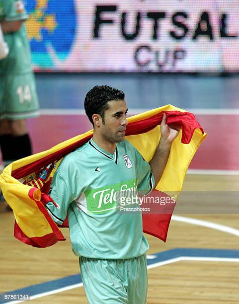 Gabriel of Boomerang Interviu FS celebrates during UEFA Futsal Cup final on May 7 2006 in Moscow Russia