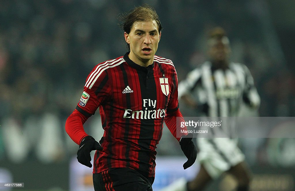 <a gi-track='captionPersonalityLinkClicked' href=/galleries/search?phrase=Gabriel+Paletta&family=editorial&specificpeople=747556 ng-click='$event.stopPropagation()'>Gabriel Paletta</a> of AC Milan looks on during the Serie A match between Juventus FC and AC Milan at Juventus Arena on February 7, 2015 in Turin, Italy.