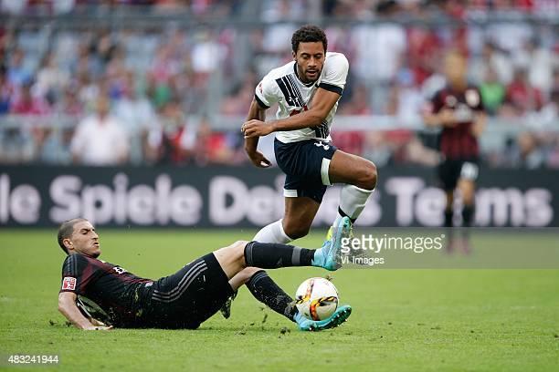 Gabriel Paletta of AC Milan Moussa Dembele of Tottenham Hotspur during the AUDI Cup bronze final match between Tottenham Hotspur and AC Milan on...