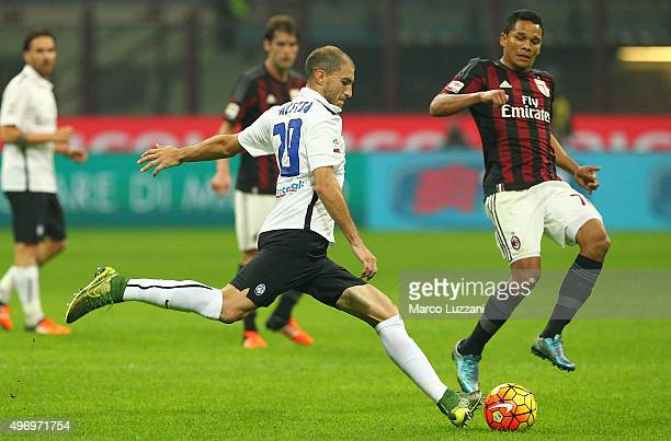 Gabriel Paletta of Atalanta BC in action during the Serie A match between AC Milan and Atalanta BC at Stadio Giuseppe Meazza on November 7 2015 in...