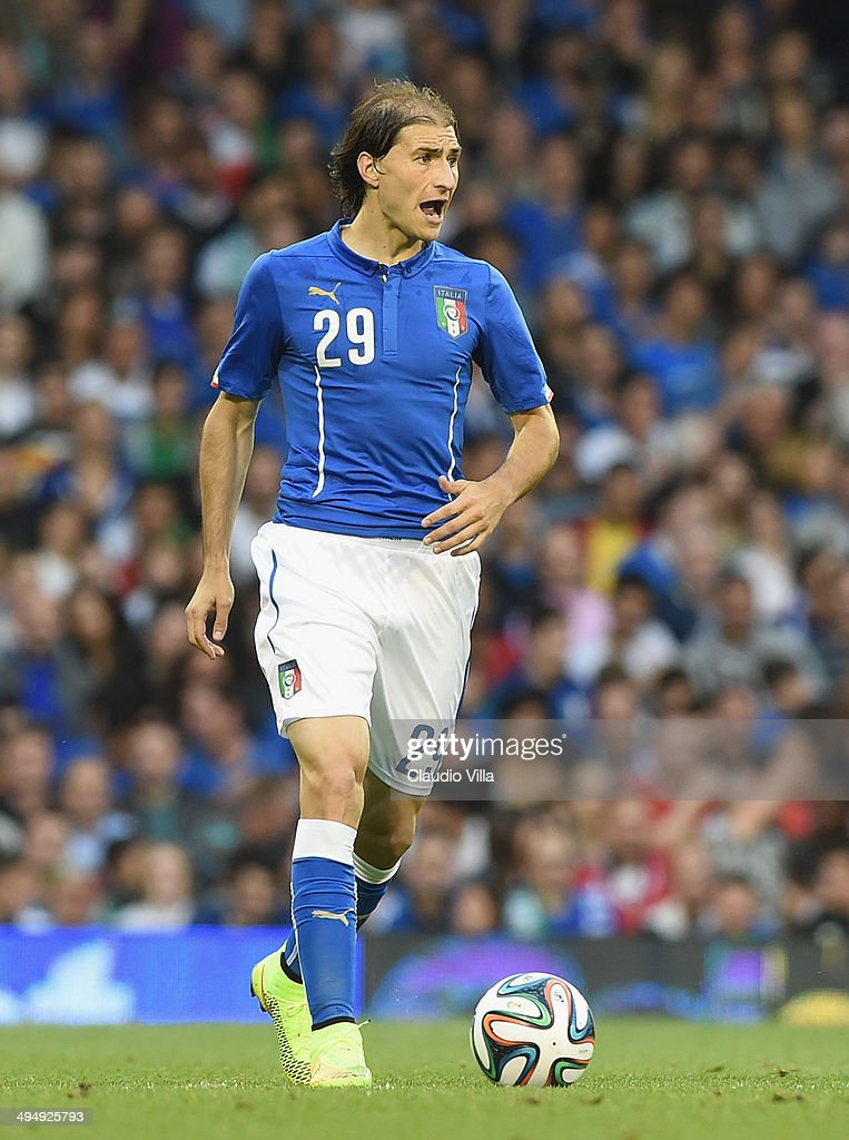 Gabriel Paletta of Italy in action during the International Friendly match between Italy and Ireland at Craven Cottage on May 30, 2014 in London, England.