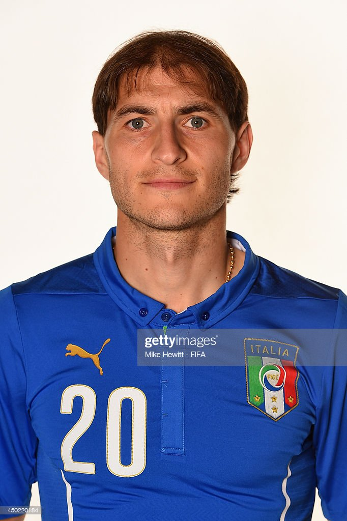 <a gi-track='captionPersonalityLinkClicked' href=/galleries/search?phrase=Gabriel+Paletta&family=editorial&specificpeople=747556 ng-click='$event.stopPropagation()'>Gabriel Paletta</a> of Italy poses during the official FIFA World Cup 2014 portrait session on June 6, 2014 in Rio de Janeiro, Brazil.