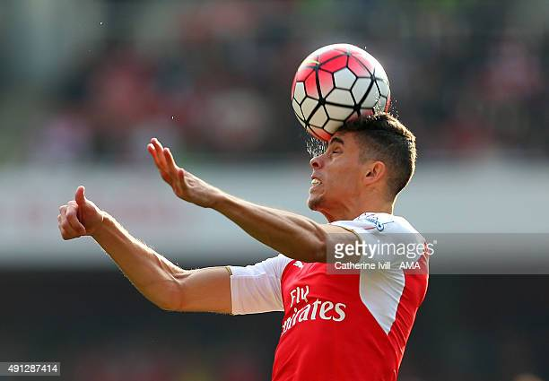 Gabriel Paulista of Arsenal during the Barclays Premier League match between Arsenal and Manchester United at the Emirates Stadium on October 04 2015...