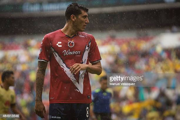 Gabriel Peñalba of Veracruz looks on during a 6th round match between America and Veracruz as part of Apertura 2015 Liga MX at Azteca Stadium on...