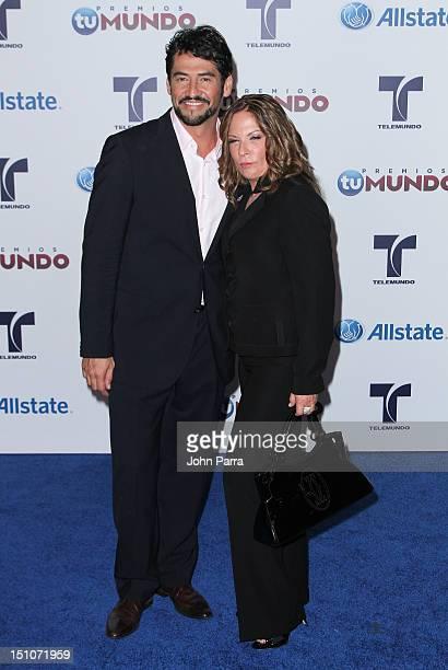 Gabriel Porras and Ana Maria Polo arrives at Telemundo's Premios Tu Mundo Awards at Fillmore Miami Beach on August 30 2012 in Miami Beach Florida