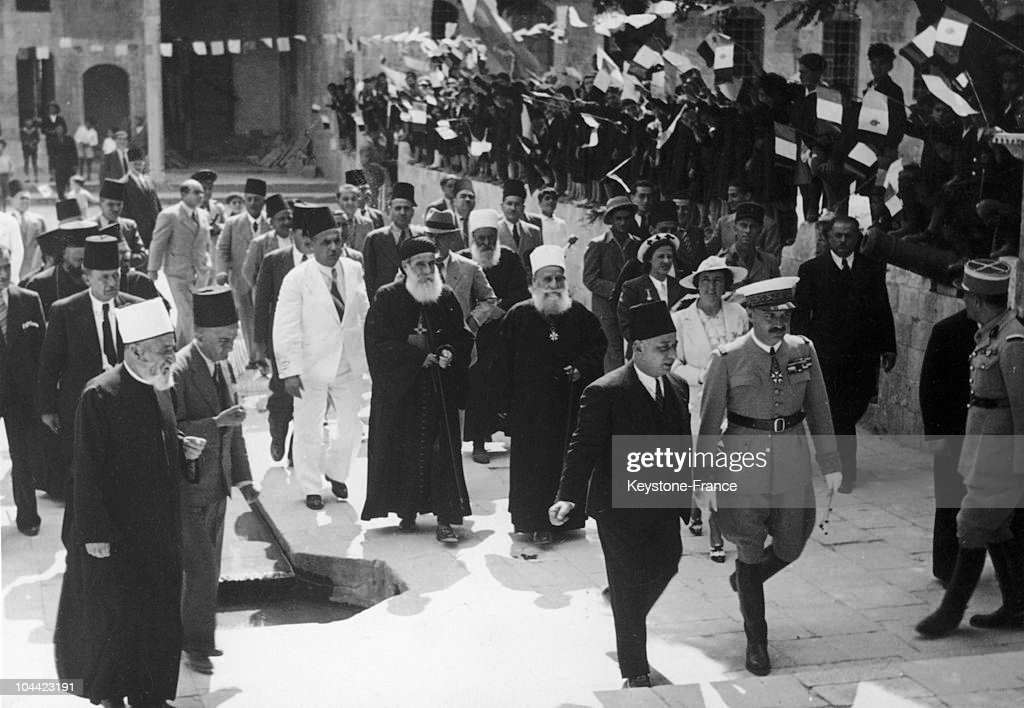Gabriel Puaux A French HighCommissioner Is Received By The Druze And Maronite Religious Leaders In Lebanon On October 24 1939