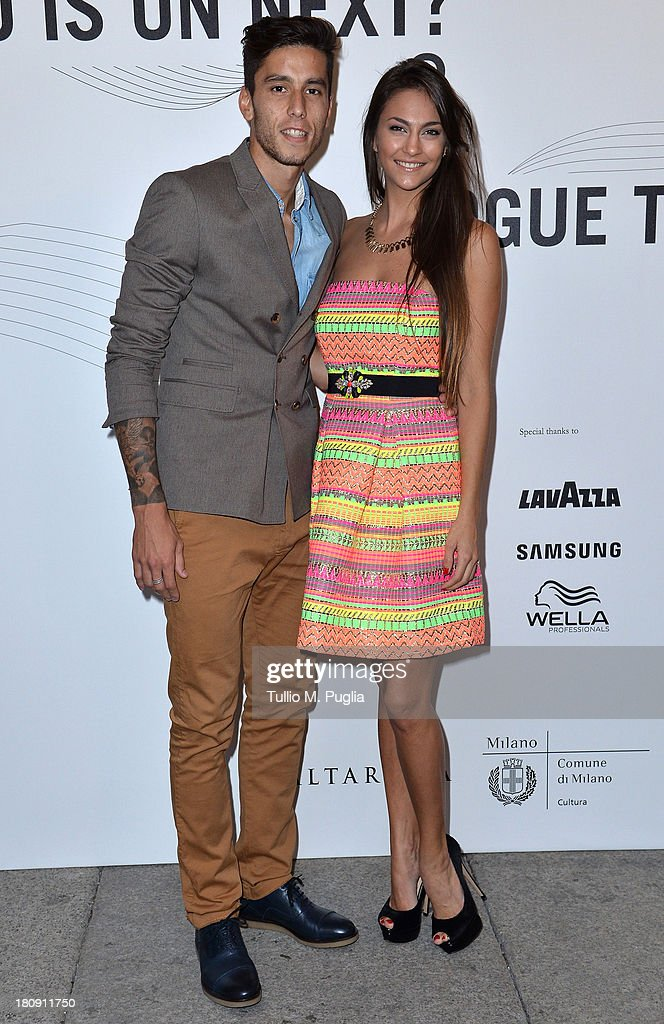 Gabriel Ricardo Alvarez and Mariana Palleiro attend 'Who is On Next? & Vogue Talents' event at Palazzo Morando on September 17, 2013 in Milan, Italy.