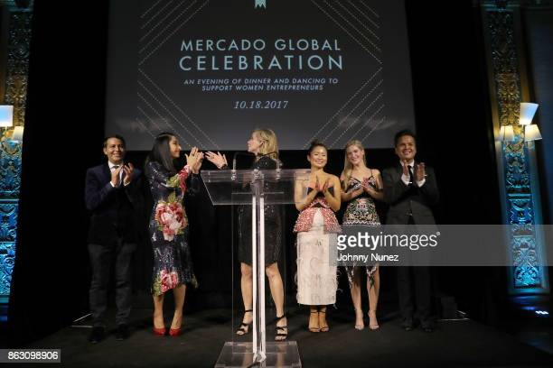 Gabriel RiveraBarraza Carla Carson Yaz Hernández Rachel Alonso Mendoza and PJ Pascual Attend The 2017 Mercado Global Celebration at Prince George...