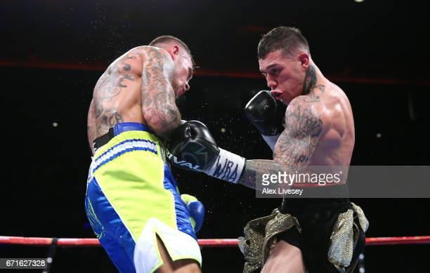 Gabriel Rosado lands a left shot on Martin Murray during the WBA InterContinental Middleweight title fight between Martin Murray and Gabriel Rosado...