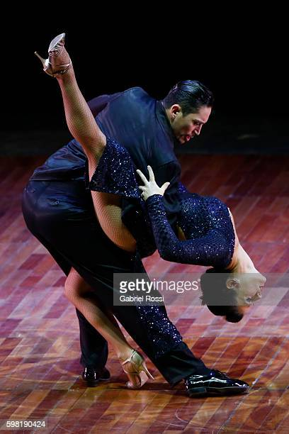 Gabriel Salvi and Carolina Leonardelli of Argentina dance during the Stage Tango Final as part of Buenos Aires Tango Festival World Championship 2016...