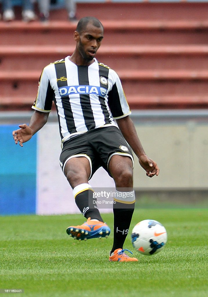 Gabriel Silva of Udinese Calcio in action during the Serie A match between Udinese Calcio and Bologna FC at Stadio Friuli on September 15, 2013 in Udine, Italy.