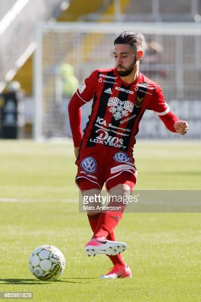 Gabriel Somi of Ostersunds FK during the Allsvenskan match between Ostersunds FK and Kalmar FF at Jamtkraft Arena on May 20 2017 in Ostersund Sweden