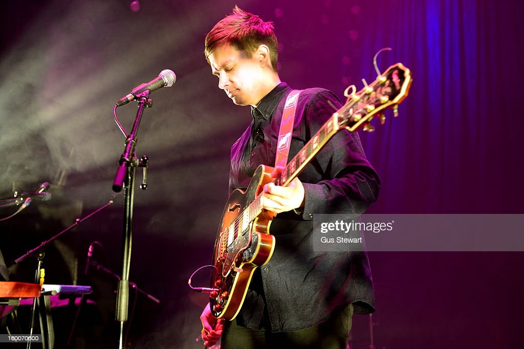 Gabriel Stebbing of Night Works performs on stage at O2 Shepherd's Bush Empire on January 18, 2013 in London, England.