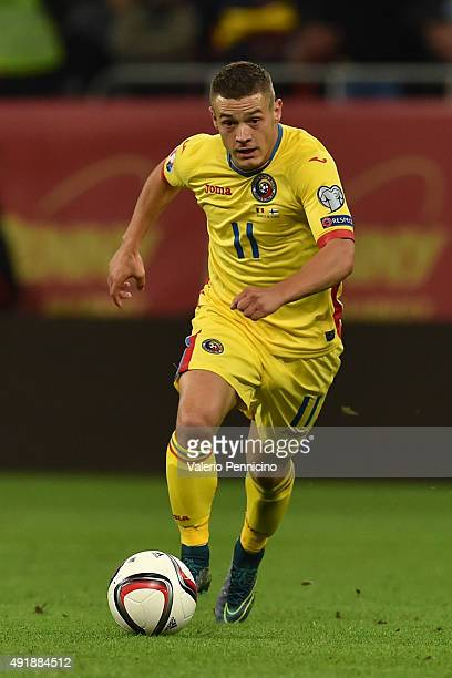 Gabriel Torje of Romania in action during the UEFA EURO 2016 Qualifier between Romania and Finland on October 8 2015 in Bucharest Romania