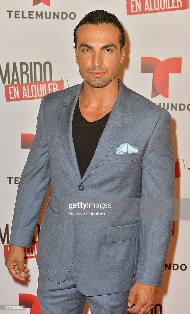 Gabriel Valenzuela attends Telemundos 'Marido en Alquiler' Presentation on July 10, 2013 in Miami, Florida.