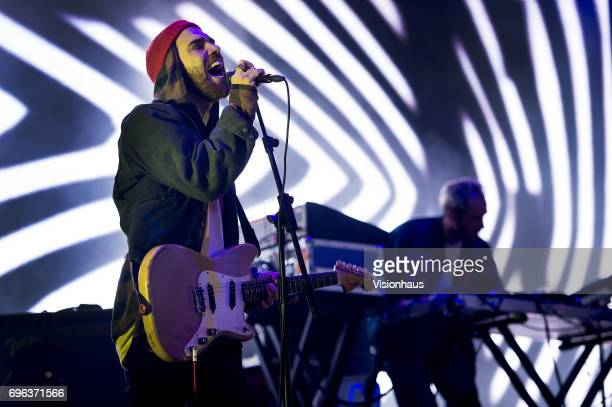 Gabriel Winterfield lead singer with Jagwar Ma performs at The Parklife Festival 2017 at Heaton Park on June 10 2017 in Manchester England