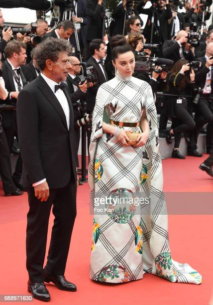 Gabriel Yared and Fan Bingbing attend 'Amant Double ' Red Carpet Arrivals during the 70th annual Cannes Film Festival at Palais des Festivals on May...