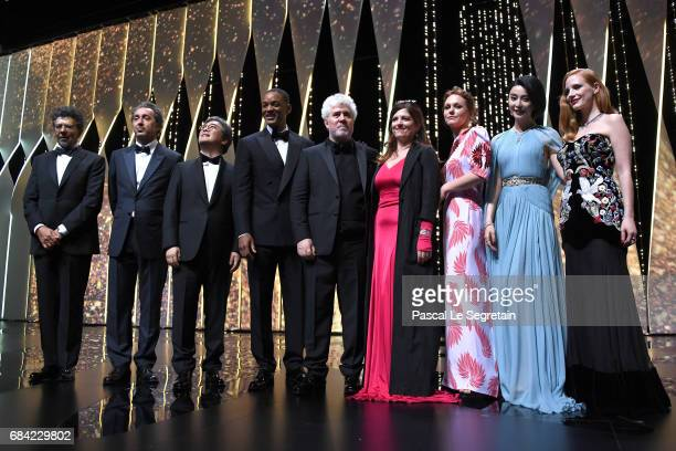 Gabriel Yared Paolo Sorrentino Park Chanwook and Will Smith President of the jury Pedro Almodovar and jury members Agnes Jaoui Maren Ade Fan Bingbing...