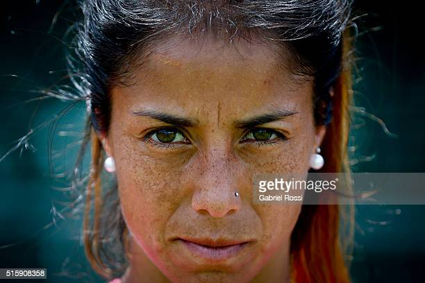 Gabriela Aguirre during a portrait session as part of Argentina Las Leonas Media Day at Cenard on March 15 2016 in Buenos Aires Argentina