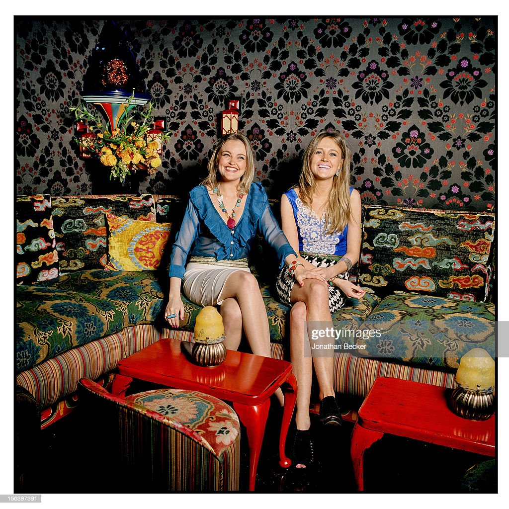 Gabriela Asquith and Helena Asquith are photographed at 5 Hertford Street, which is the home of nightclub Loulou's for Vanity Fair Magazine on June 11, 2012 in London, England.