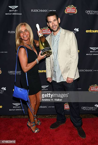 Gabriela Carbonetti and 'Entourage' creator and GIFF board member Doug Ellin attend the Greenwich Film Festival Special Screening of Entourage...