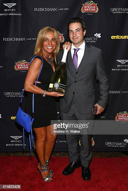 Gabriela Carbonetti and Jeb Fiorita attend the Greenwich Film Festival Special Screening of Entourage reception on May 26 2015 in Greenwich...