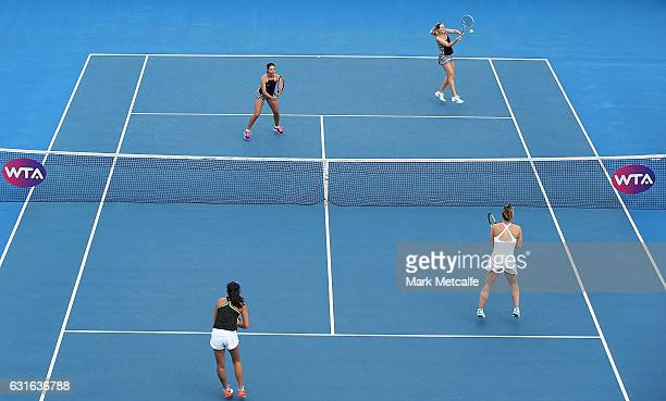 Gabriela Dabrowski of Canada and Zhaoxuan Yang of China play their Women's Doubles Final match against Raluca Olaru of Romania and Olga Savchuk of...